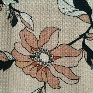 Skirt Ann Taylor Beige Floral Pencil 8